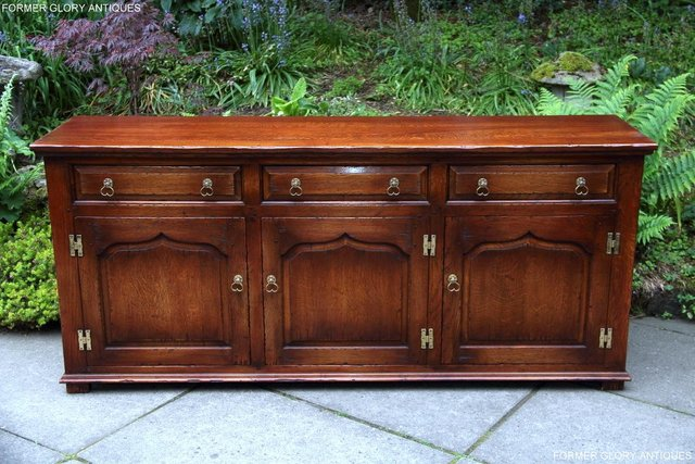 Preview of the first image of BEVAN FUNNELL SOLID OAK SIDEBOARD DRESSER BASE HALL CABINET.