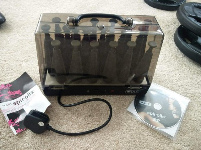 Image 2 of Wahl Spirolls - conical rollers in heated carry case & dvd