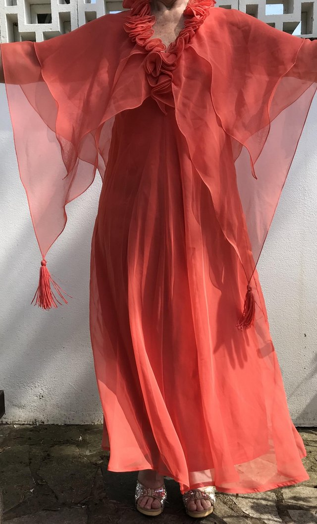 Image 3 of Vintage Jean Varon Ball Gown Prom Dress