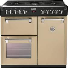 Preview of the first image of STOVES RICHMOND 90CM DUEL FUEL CHAMPAGNE RANGE COOKER-.