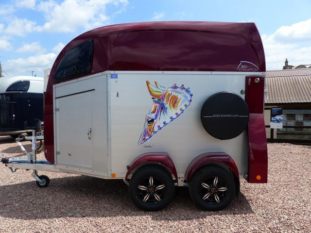 Preview of the first image of NEW Bockmann Big Champion R Horse Trailer.