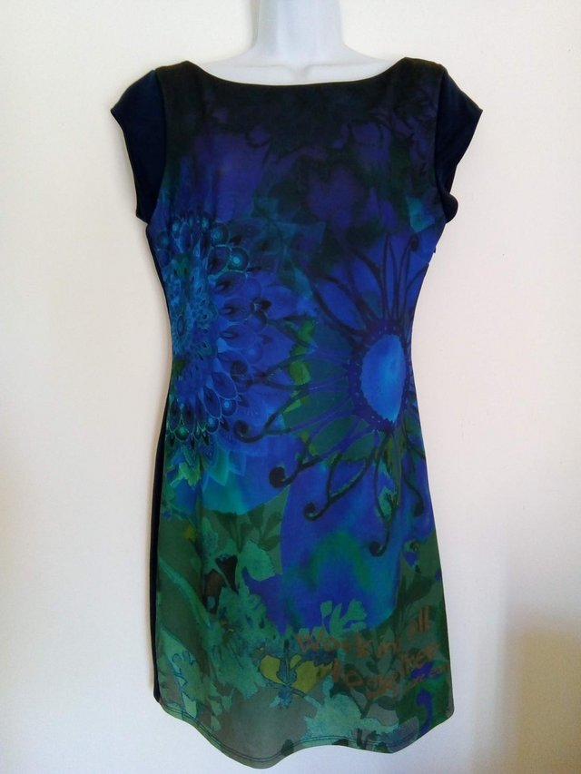 Image 3 of Blue mini dress by Desigual
