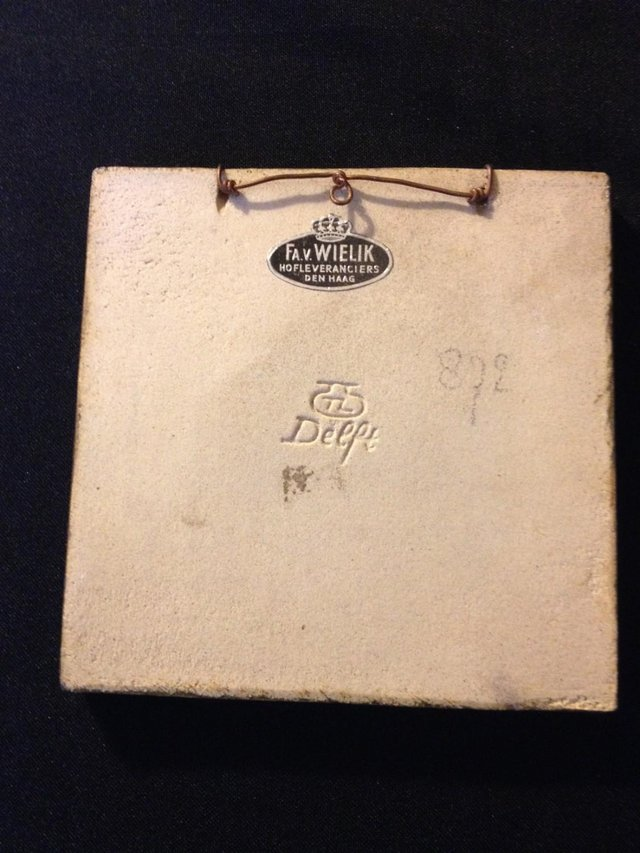 Image 2 of Vintage DELFT cloisonne Tile ARNHEM 872