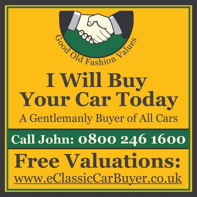 Preview of the first image of I WILL BUY YOUR CLASSIC CAR + KIT CAR + REGULAR CAR +.