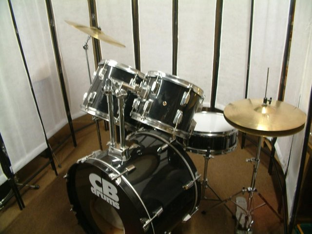 Preview of the first image of CB drum kit with upgraded cymbals for sale..