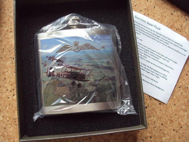 Image 2 of RAF Hip Flask - Stainless Steel