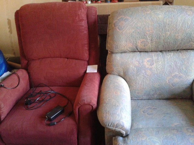 Image 2 of Two Recliner Armchairs, Electric & Manual Versions