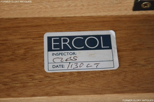 Image 6 of AN ERCOL WINDSOR LIGHT ELM CORNER TV CABINET DVD TABLE STAND