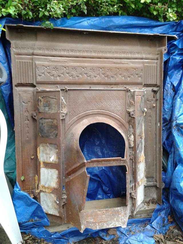 Victorian Fireplace Mantle Original Circa 1896 For Sale In