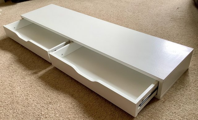 Preview of the first image of Two drawer wall shelf.