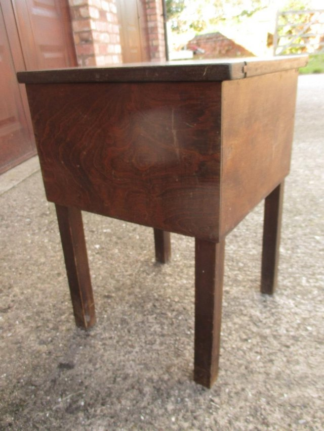 Preview of the first image of Music stall/Sewing box/table -Wooden - very old.