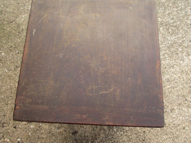 Image 2 of Music stall/Sewing box/table -Wooden - very old