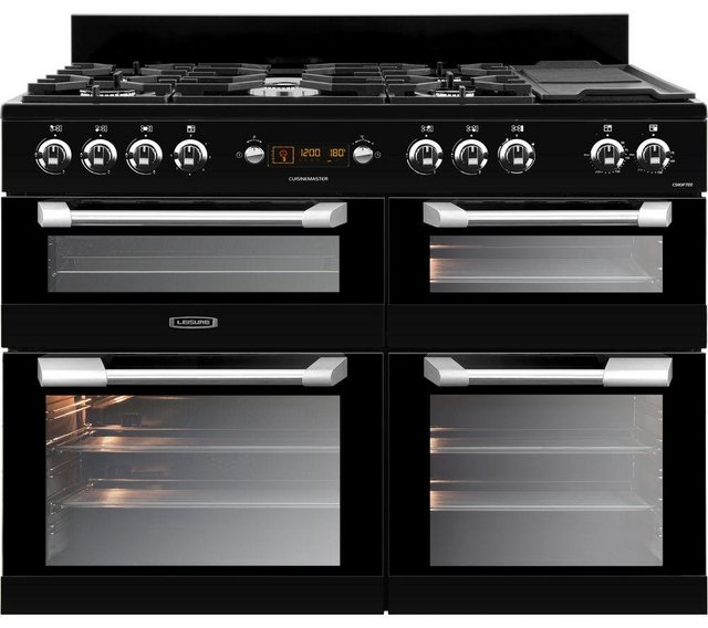 Preview of the first image of LEISURE CUISINEMASTER 110CM DUAL FUEL BLACK RANGECOOKER (HD).