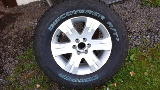 Preview of the first image of Nissan navara wheel and tyre,.