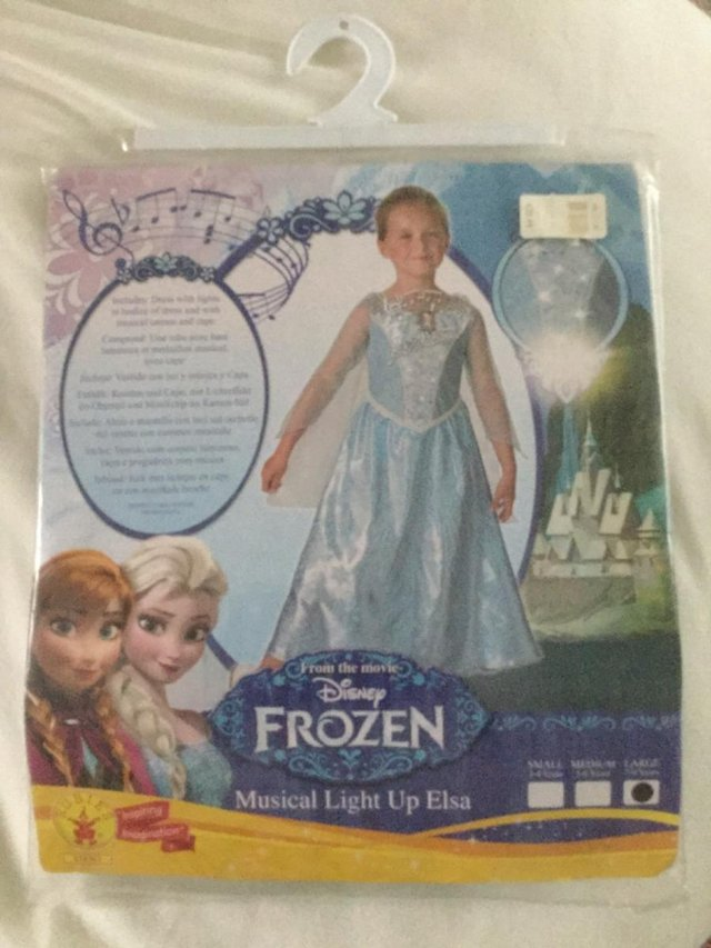 Disney Frozen Musical and Light-Up Elsa Fancy Dress Costume by George Asda *NEW*