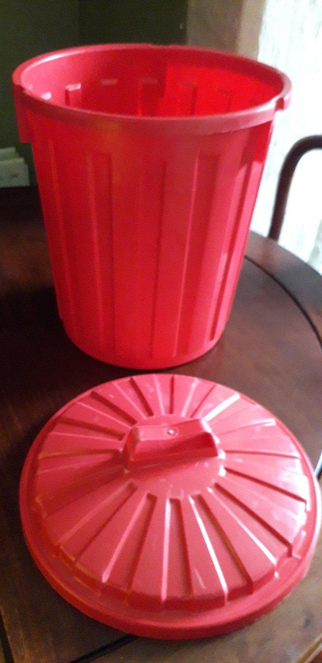 Preview of the first image of Red Plastic Storage Bin- 23 Litres.