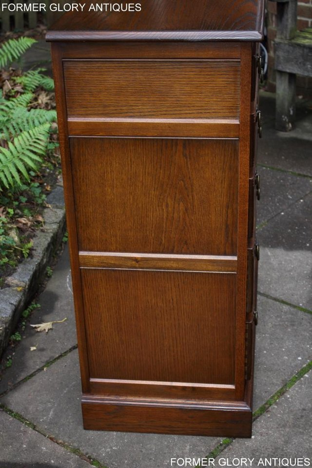 Image 5 of OLD CHARM LIGHT OAK TALL CHEST OF DRAWERS TV STAND SIDEBOARD