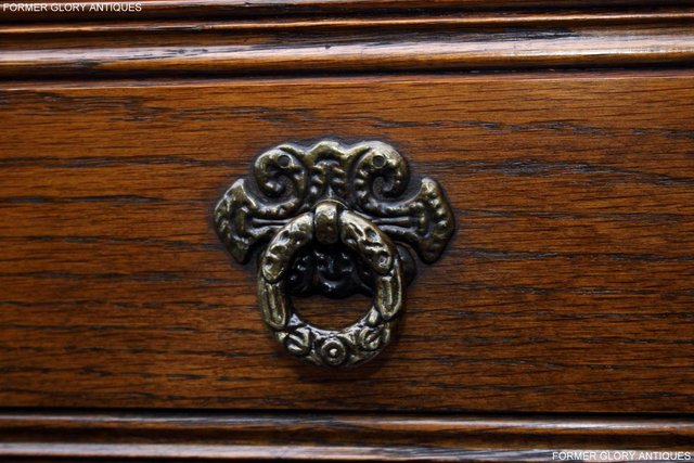 Image 10 of OLD CHARM LIGHT OAK TALL CHEST OF DRAWERS TV STAND SIDEBOARD