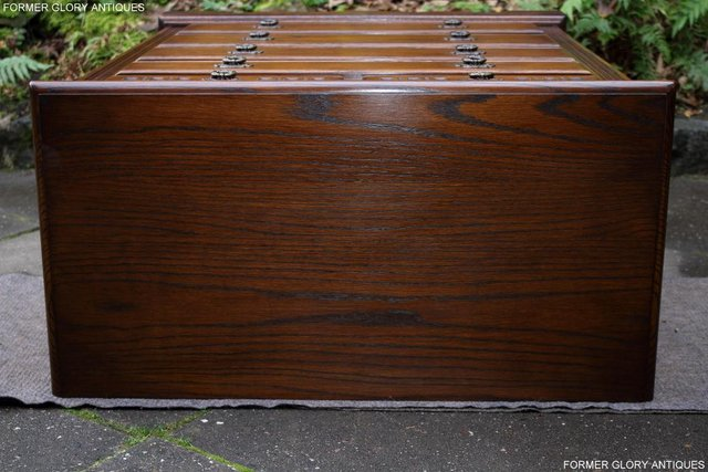 Image 14 of OLD CHARM LIGHT OAK TALL CHEST OF DRAWERS TV STAND SIDEBOARD
