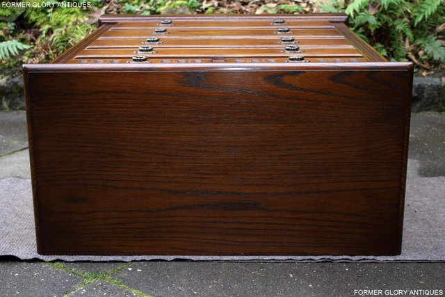 Image 36 of OLD CHARM LIGHT OAK TALL CHEST OF DRAWERS TV STAND SIDEBOARD