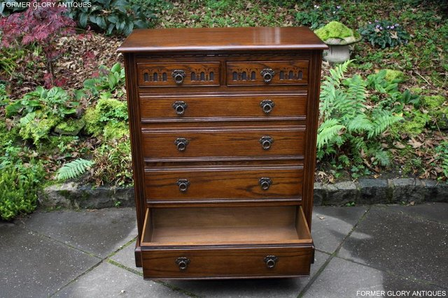 Image 46 of OLD CHARM LIGHT OAK TALL CHEST OF DRAWERS TV STAND SIDEBOARD