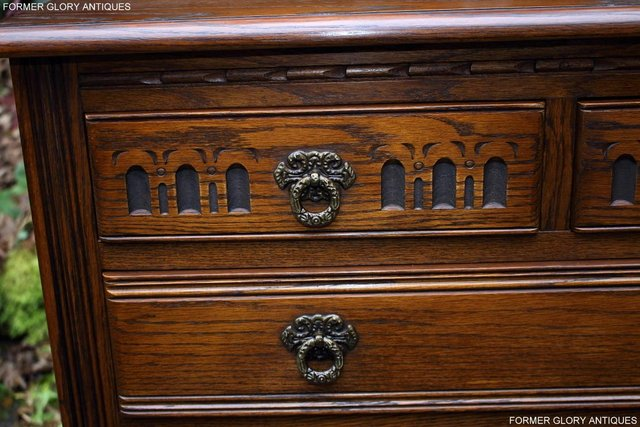 Image 49 of OLD CHARM LIGHT OAK TALL CHEST OF DRAWERS TV STAND SIDEBOARD