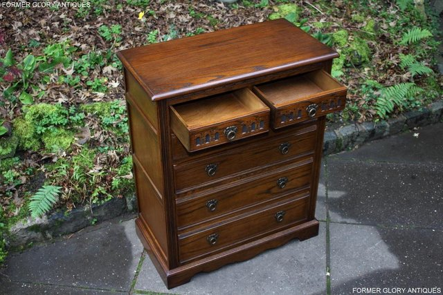 Image 57 of OLD CHARM LIGHT OAK TALL CHEST OF DRAWERS TV STAND SIDEBOARD