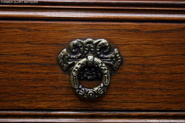 Image 62 of OLD CHARM LIGHT OAK TALL CHEST OF DRAWERS TV STAND SIDEBOARD