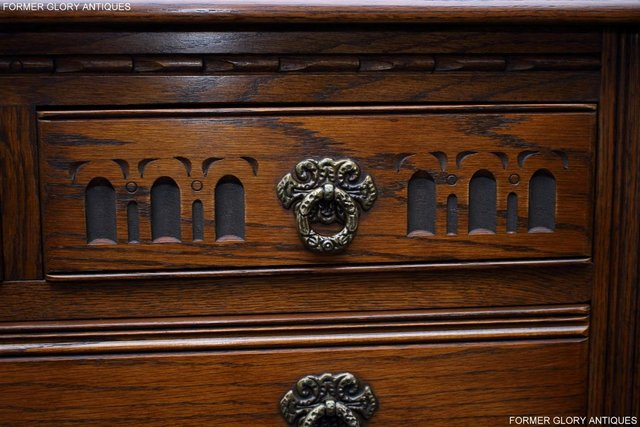 Image 71 of OLD CHARM LIGHT OAK TALL CHEST OF DRAWERS TV STAND SIDEBOARD