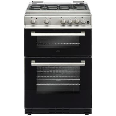 Preview of the first image of NEWWORLD 60CM SILVER DUAL FUEL COOKER WITH GLASS LID- NEW.