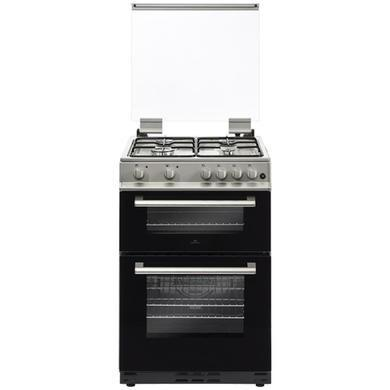 Image 2 of NEWWORLD 60CM SILVER DUAL FUEL COOKER WITH GLASS LID- NEW
