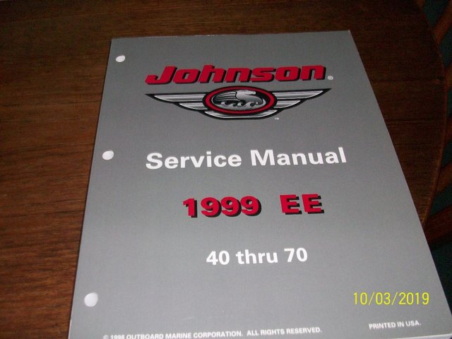 Image 2 of Johnson Outbord Engine Service Manual