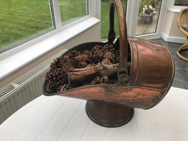 Image 2 of Brass / Copper Coal Skuttle