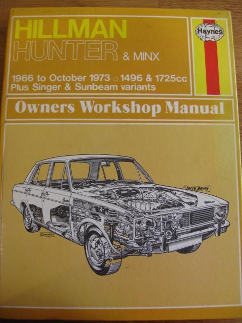 Image 2 of Haynes Manual - Hillman Hunter & Minx 1966 - Oct 73