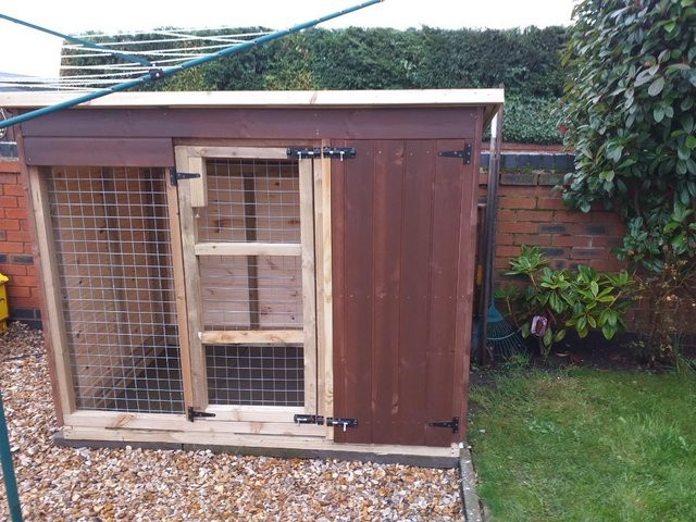 Preview of the first image of Hand made 6ft x 4ft x 5ft6'' dog kennel and run.