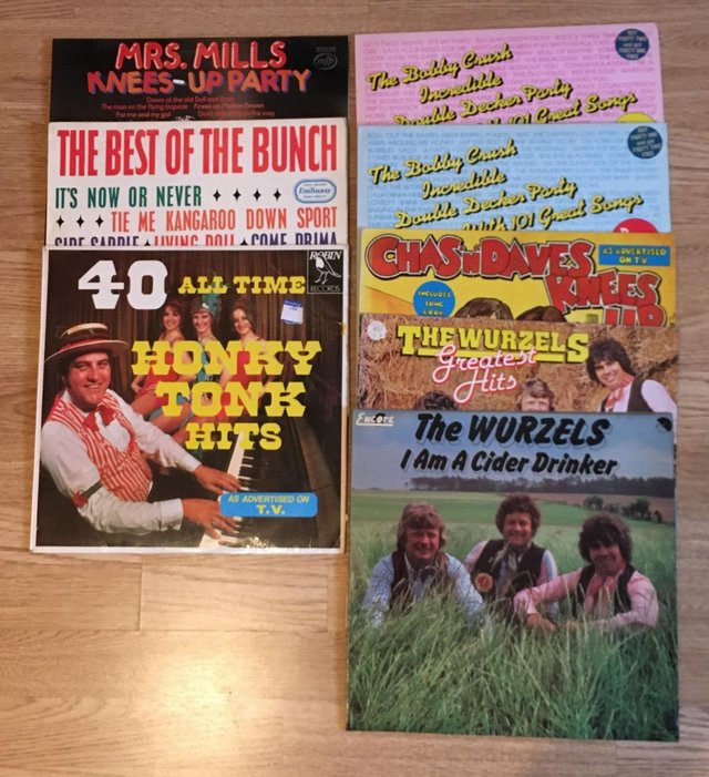 Preview of the first image of 8x Comedy, Sing-a-long Lps - Worzels, Bobby Crush, Mrs Mills.