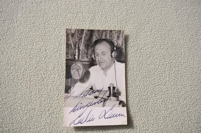 Preview of the first image of Leslie Dunn Autographed Photograph Paul Johnson The Archers.