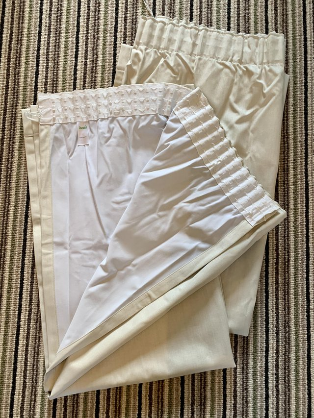 Preview of the first image of Nearly New Pencil Pleat Curtains.