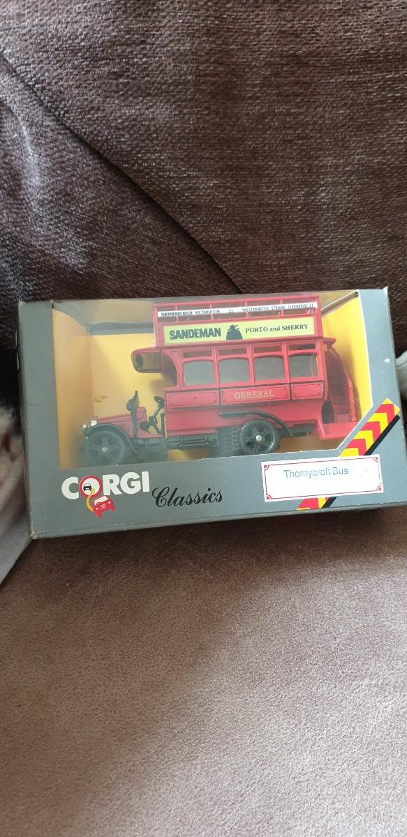 Preview of the first image of Corgi Classics - Thornycroft Bues and AEC 5T Van.