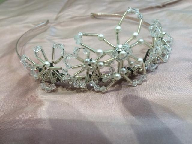 Preview of the first image of Silver/Pearls/Crystals Designer Wedding Tiara, from Liberty.