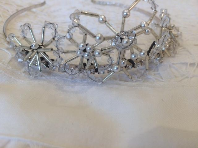 Image 3 of Silver/Pearls/Crystals Designer Wedding Tiara, from Liberty