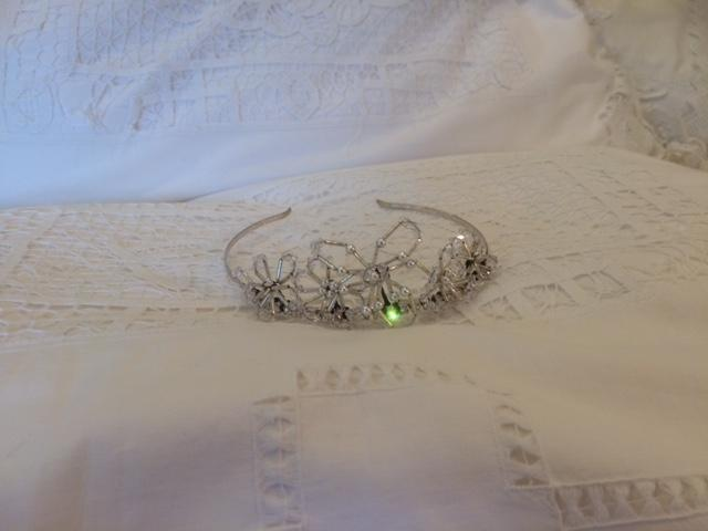 Image 6 of Silver/Pearls/Crystals Designer Wedding Tiara, from Liberty