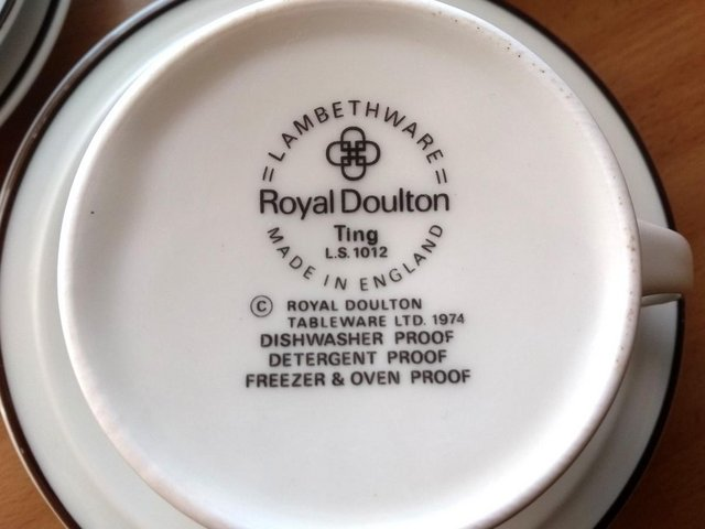 Preview of the first image of Royal Doulton Ting Lambethware Tea Coffee Set - Vintage 1974.