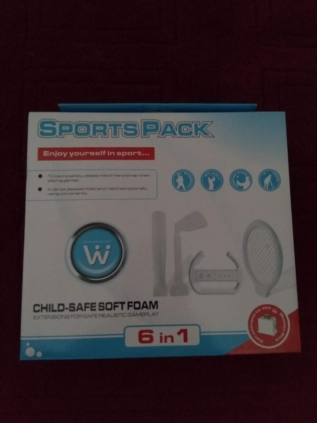 Preview of the first image of Wii accessories package.