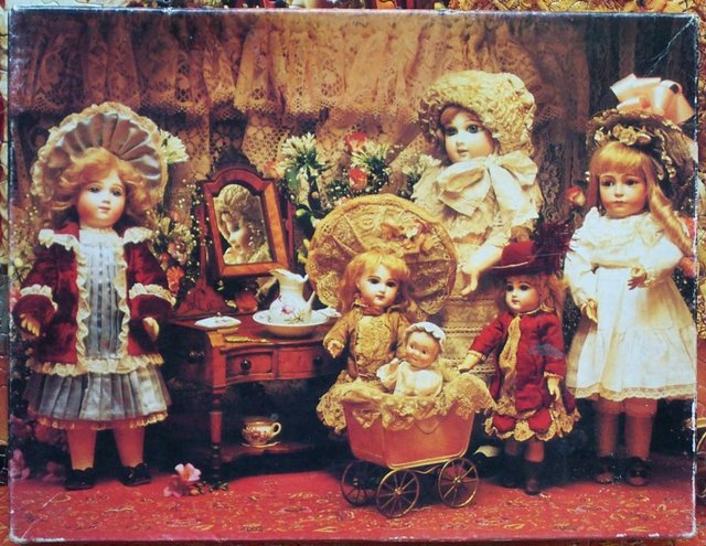 Preview of the first image of Fancy, Frilly Dolls 500 Piece Puzzle.