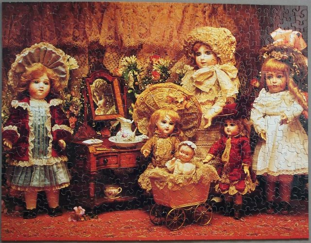 Image 2 of Fancy, Frilly Dolls 500 Piece Puzzle