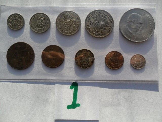 Image 2 of COIN SET'S FARTHING TO CROWN