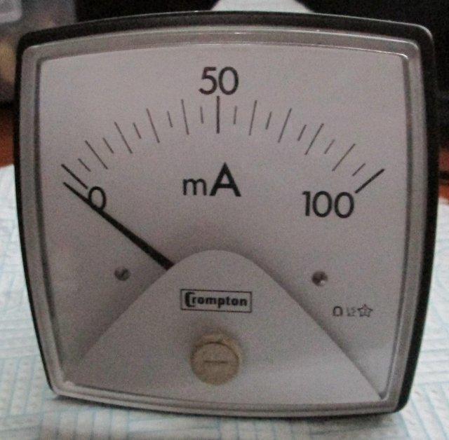 Image 3 of Crompton 0-100Ma meter scale (Incl P&P)
