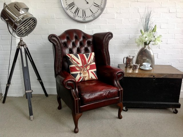 Image 6 of Chesterfield armchairs. Queen Anne & club style. Can deliver