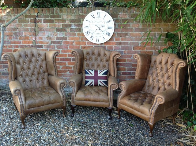 Preview of the first image of Chesterfield armchairs. Queen Anne & club style. Can deliver.